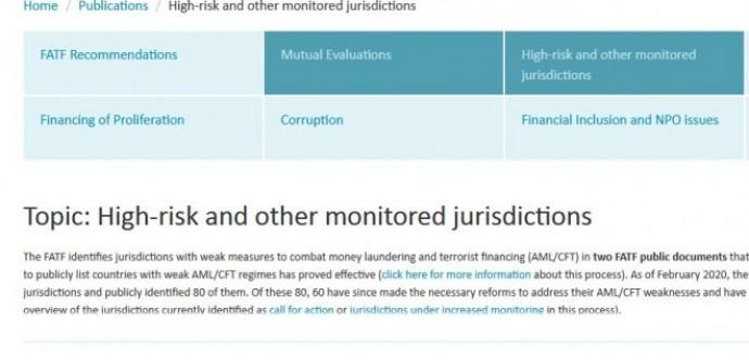 Јурисдикције у високом ризику и под појачаним праћењем - FATF, јуни 2021.